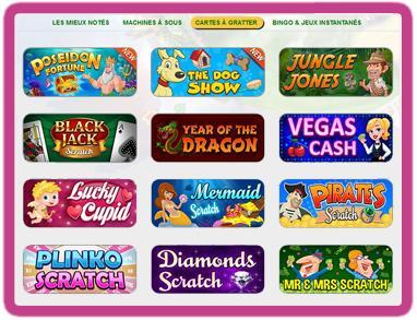 Découvrir les jeux de grattage en ligne sur Winspark
