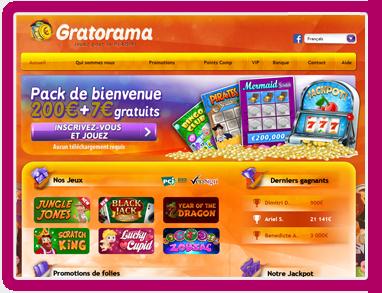 Jeux de grattage sur Gratorama